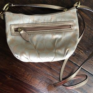 Gold Coach Crossbody Bag